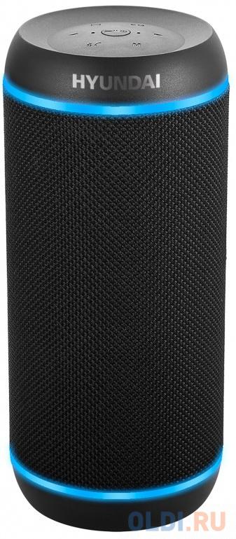 Колонка порт. Hyundai H-PAC380 черный 30W 1.0 BT/3.5Jack/USB 10м фото