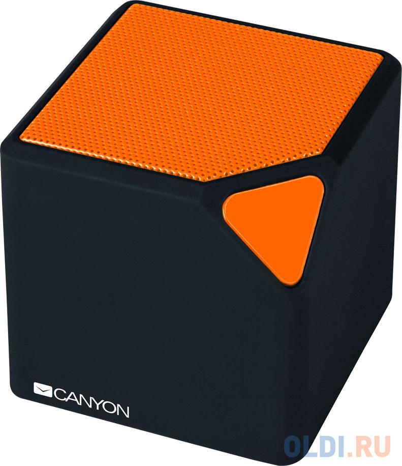 Портативная акустикаCanyon CNE-CBTSP2 черный/оранжевый портативная акустика canyon cne cbtsp6 black