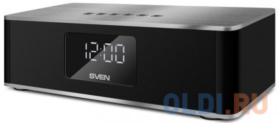 Портативная акустика Sven PS-190 10Вт Bluetooth черный серебристый портативная акустика sven ps 68 черный
