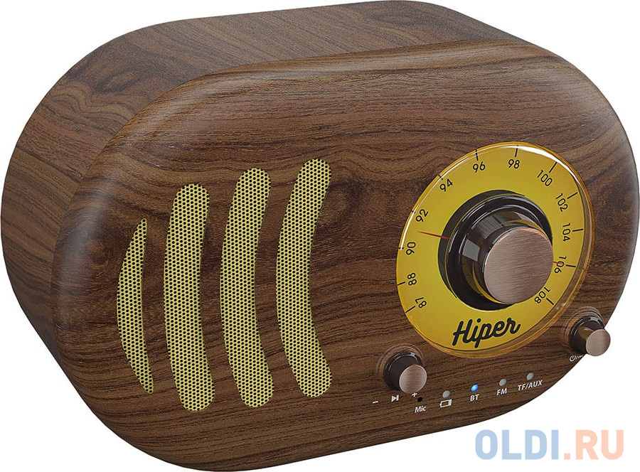 Активная акустическая система HIPER RETRO S Wooden, H-OT4, 5 ВТ,60 Гц - 18 кГц,1800 мАч, BT 5,0,Hands-free,Micro-USB free shippinghigh grade wooden door