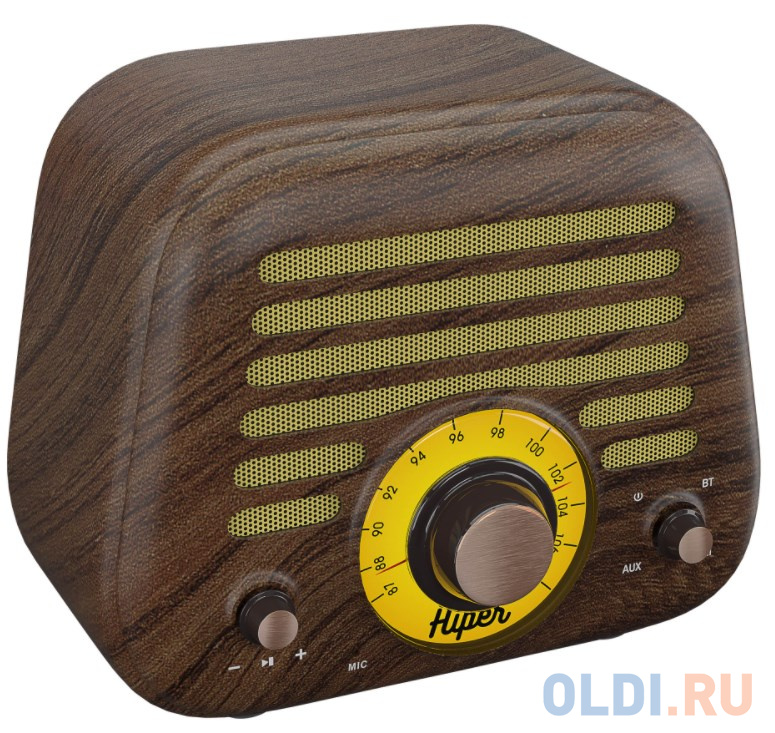 Активная акустическая система HIPER RETRO L Wooden, H-OT5, 5 ВТ,60 Гц - 18 кГц,1800 мАч, BT 5,0,Hands-free,Micro-USB free shippinghigh grade wooden door