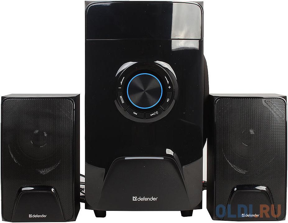 Фото - Колонки DEFENDER X500 чёрный 2.1,50W,Bluetooth, FM/MP3/SD/USB, ДУ колонки defender x420 чёрный 2x12 вт 16 вт 20 20 000 гц bluetooth fm mp3 sd usb ду