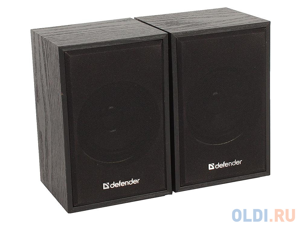 Колонки DEFENDER SPK-250 2.0 black (2x4 Вт, USB пит, раз. д. науш.)