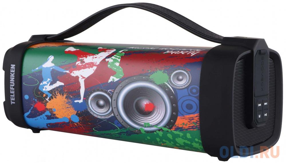 Колонка порт. Telefunken TF-PS1241B черный 6W 1.0 BT/USB (TF-PS1241B MUSIC HOLIDAY)).