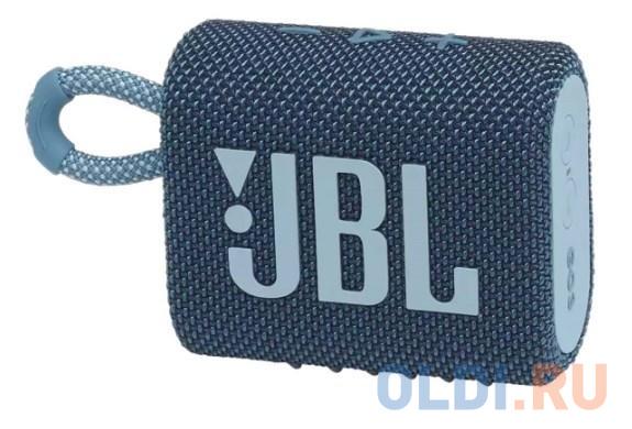 Колонка портативная JBL GO 3 1.0 (моно-колонка) Голубой колонка jbl go 2 coral orange