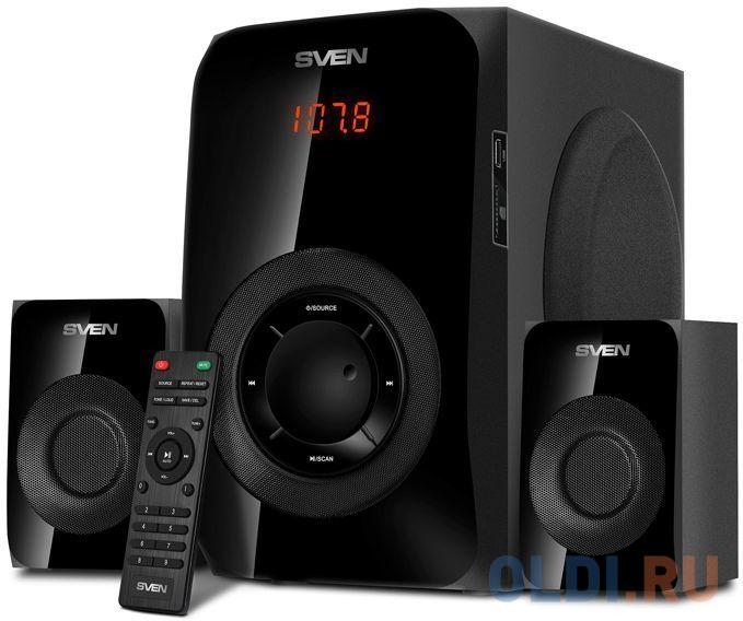 Колонки Sven MS-2020 2.1 черный 55Вт BT