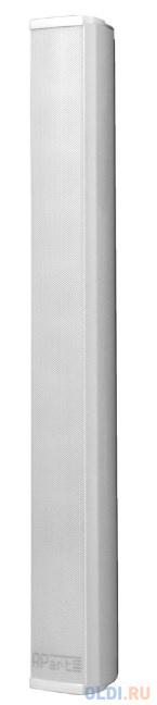 """Акустическая система APART [COLS81] пассивная звуковая колонна. 8х2""""НЧ, 1""""ВЧ. 250 Гц 20 кГц. 40 Вт (16 Ом). 6Вт / 15Вт / 30Вт (100 В). Макс. SPL: 104 dB. HxV:180°х50°. IP66. Euroblock. L-brackets в комплекте (COLSBRA - опционально). Цвет: белый."""