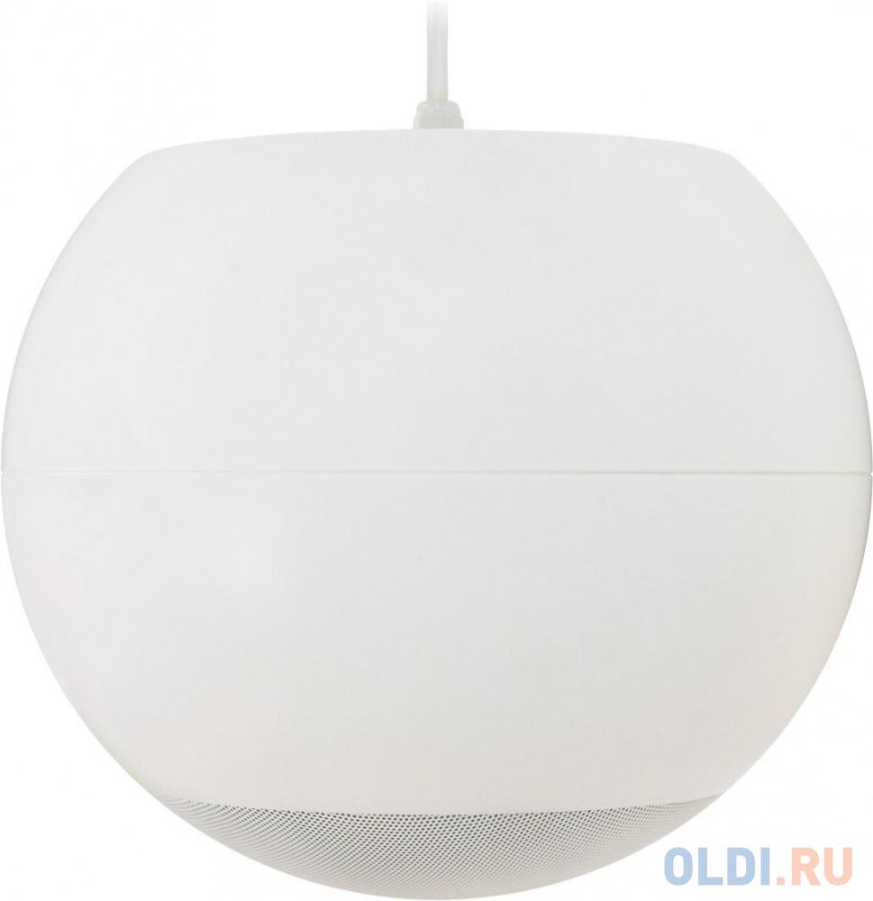 """Акустическая система ECLER [eUC106, eUC106W] сферический громкоговоритель,6,5"""" НЧ динамик, 0.5"""" ВЧ динамик,40 Вт 8Ом, и 70/100V трансформатор. Цвет белый"""