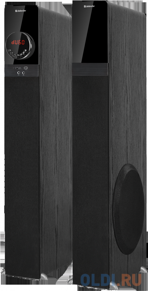 Колонки DEFENDER G80 чёрный 2.0 (140Вт, USB/SD/FM/BT/RT) defender fm трансмиттер rt edge bt hf usb 2 4 a