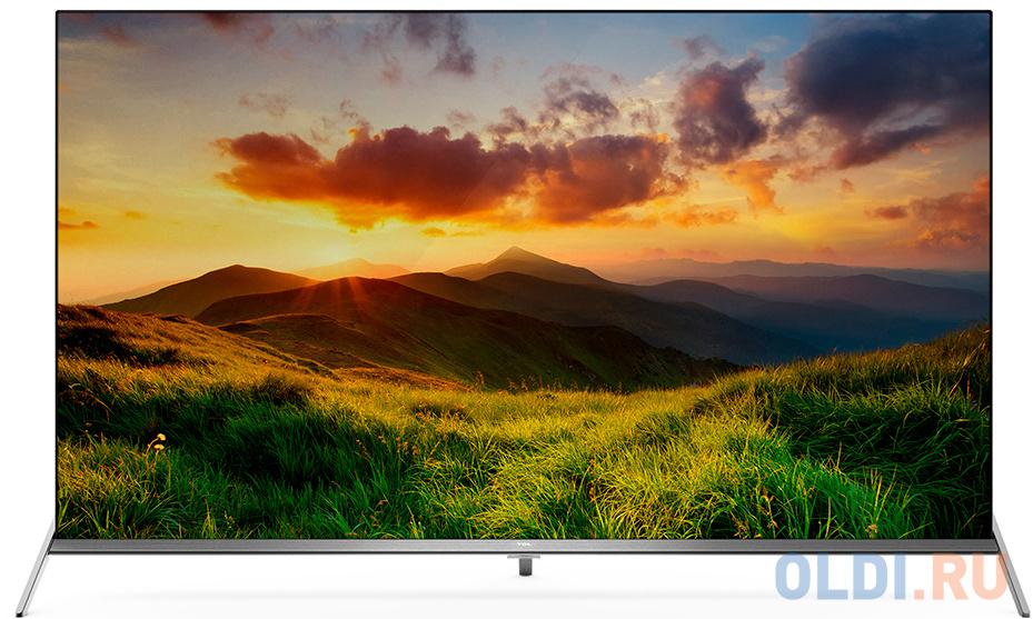 Телевизор LED TCL 65 L65P8SUS Frameless стальной/Ultra HD/60Hz/DVB-T2/DVB-C/DVB-S2/USB/WiFi/Smart TV (RUS) телевизор oled lg 78 oled77c9pla черный ultra hd 100hz dvb t2 dvb c dvb s2 usb wifi smart tv rus
