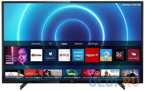 Телевизор LED 58 Philips 58PUS7505/60 черный 3840x2160 50 Гц Wi-Fi Smart TV RJ-45 S/PDIF телевизор philips 50pus7303 50 2018 темно серебристый
