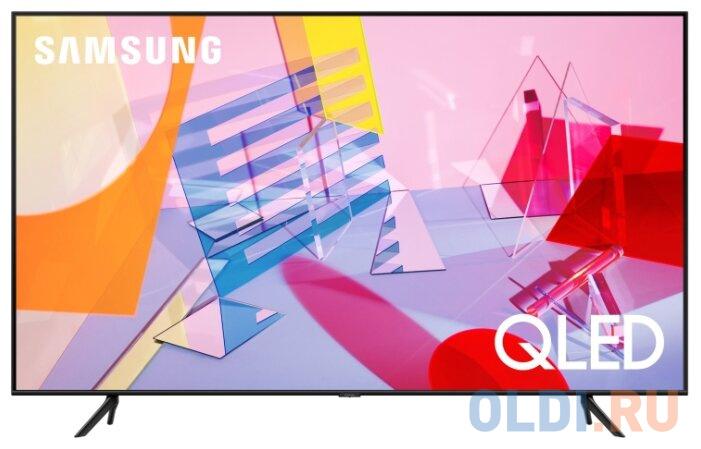 Фото - Телевизор LED 50 Samsung QE50Q60TAUXRU черный 3840x2160 100 Гц Wi-Fi Smart TV RJ-45 Bluetooth телевизор led 32 samsung ue32t4500auxru черный 1366x768 60 гц smart tv wi fi usb rj 45