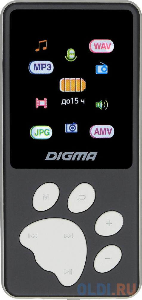 1132617 Плеер Hi-Fi Flash Digma S4 8Gb черный/серый/1.8