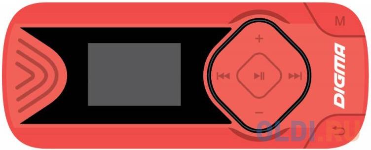 Плеер Digma R3 8Gb красный mp3 плеер digma r3 8gb black