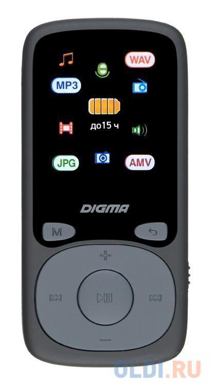 Плеер Hi-Fi Flash Digma B4 8Gb черный/1.8/FM/microSDHC.