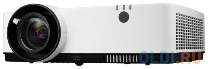 Фото - Проектор NEC ME382U (ME382UG), 3LCD, 3800 ANSI Lm, WUXGA, 16000:1, 1.22:1, VGAin, 2 x HDMI, video RCA, audio RCA Stereo IN x2, 3.5mm audio IN x2, USB b, USB A 2.0 (Power), VGAout, 3.5mm audioOut, RJ45, RS232, 16W, 29/37 дБ, 3,5 кг, проектор nec mc342x 1024x768 3400 лм 16000 1 белый