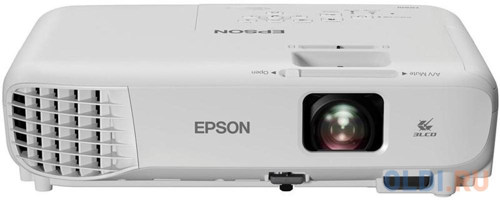 Фото - Проектор Epson EB-E001 1024x768 3100 люмен 10000:1 белый V11H839240 проектор