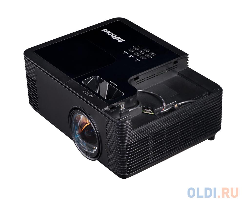 Фото - Проектор INFOCUS IN134ST DLP, 4000 ANSI Lm, XGA (1024x768), 28500:1, 0.626:1, 3.5mm in, Composite video, VGA, HDMI 1.4a x3 (поддержка 3D), USB-A (для SimpleShare и др.), лампа 15000ч.(ECO mode), 3.5mm out, Monitor out (VGA), RS232, RJ45, 21дБ, 3,2 кг 15 inch tft lcd flip down monitors car roof monitor car styling overhead multimedia video