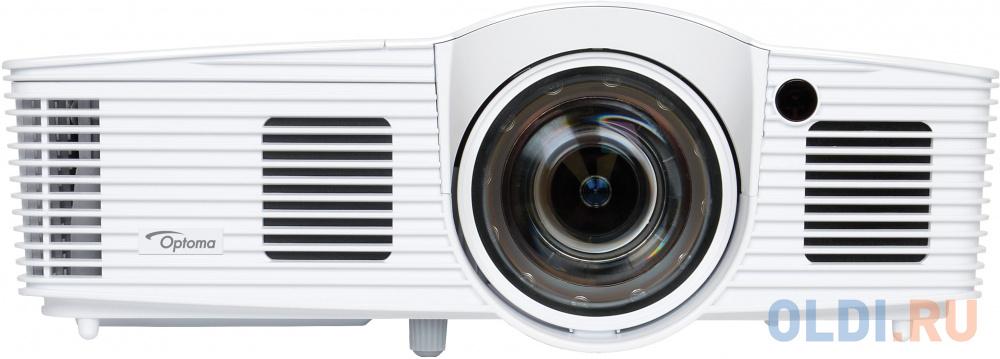 Проектор Optoma [GT1070Xe] Full 3D короткофокусный для дом. кинотеатра, DLP, FullHD(1920x1080), 2800 ANSI Lm, 23000:1;16:9; (0.49:1- фикс.); HDMI v1.4 x2(MHL); Audio Out 3.5mm;12V Trigger;3D-Sync;USB Service;10Вт;26 dB;сумка (95.82F01GC3E / 95.8ZF01GC3E)