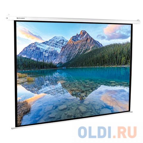 Фото - Экран настенно-потолочный BRAUBERG MOTO 180 x 240 см 236734 экран переносной на штативе brauberg tripod 150 x 150 см 236729