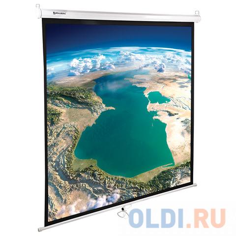 Фото - Экран настенно-потолочный BRAUBERG WALL 180 x 180 см 236726 экран переносной на штативе brauberg tripod 150 x 150 см 236729
