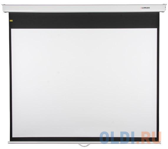 [LMP-100118CSR] Настенный экран Lumien Master Picture CSR 247x239см (раб.область 234х234 см) (96х96) Matte White черн. кайма по периметру, механизм плавного возврата, возможность потолочн./настенного крепления (белый корпус) 1:1 [lmp 100104] настенный экран lumien master picture 203х203 см matte white fiberglass черн кайма по периметру воз сть потолочного крепления 1 1