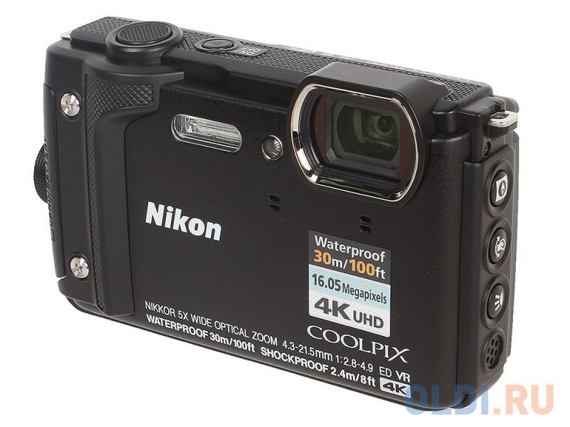 Фотоаппарат Nikon Coolpix W300 (VQA070E1) Black