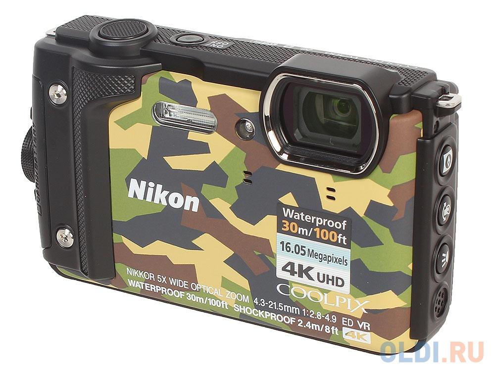 Фотоаппарат Nikon Coolpix W300 (VQA073E1) Camo