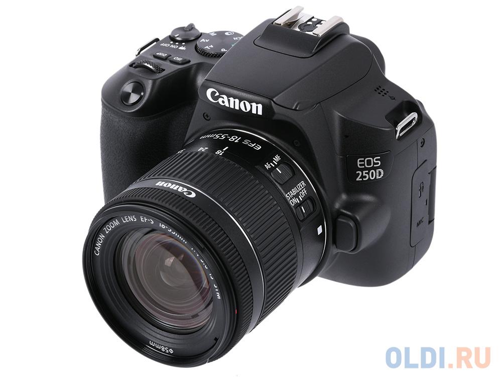 Зеркальный фотоаппарат Canon EOS 250D KIT (3454C002) Black