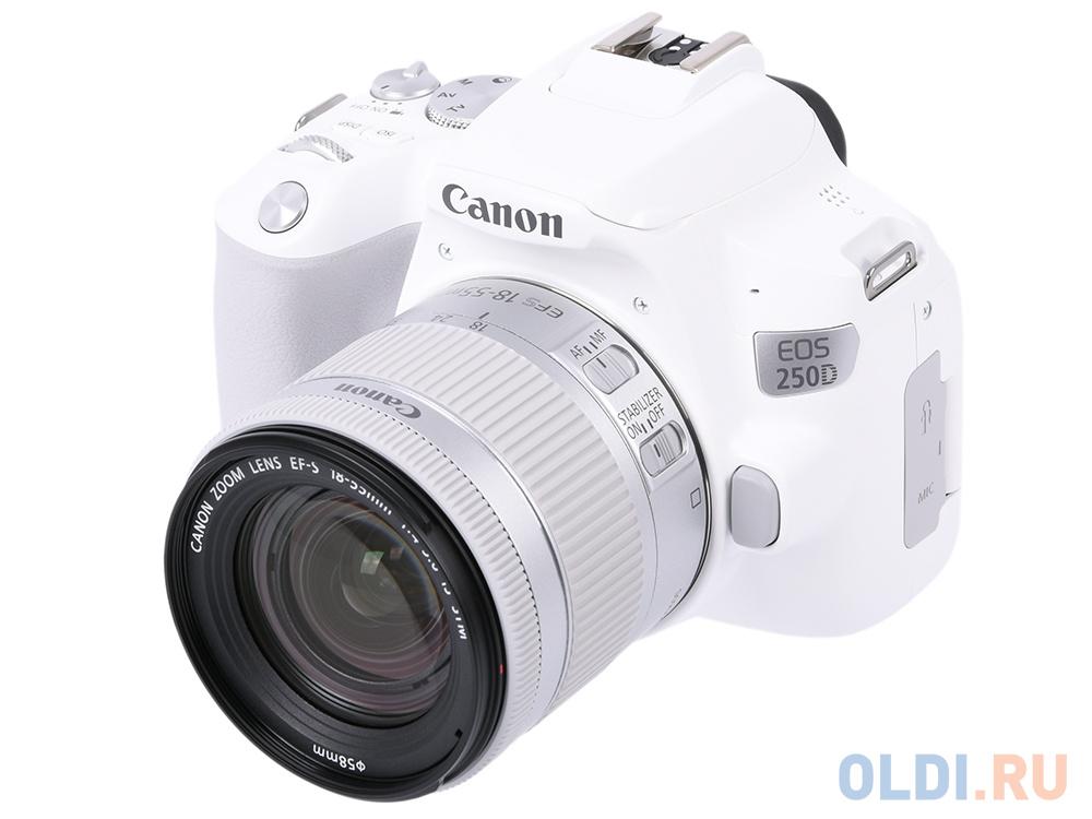 Зеркальный фотоаппарат Canon EOS 250D KIT (3458C001) White