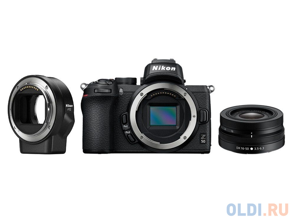 Фотоаппарат Nikon Z 50 KIT 16-50 VR + FTZ Adapter (VOA050K004) Black