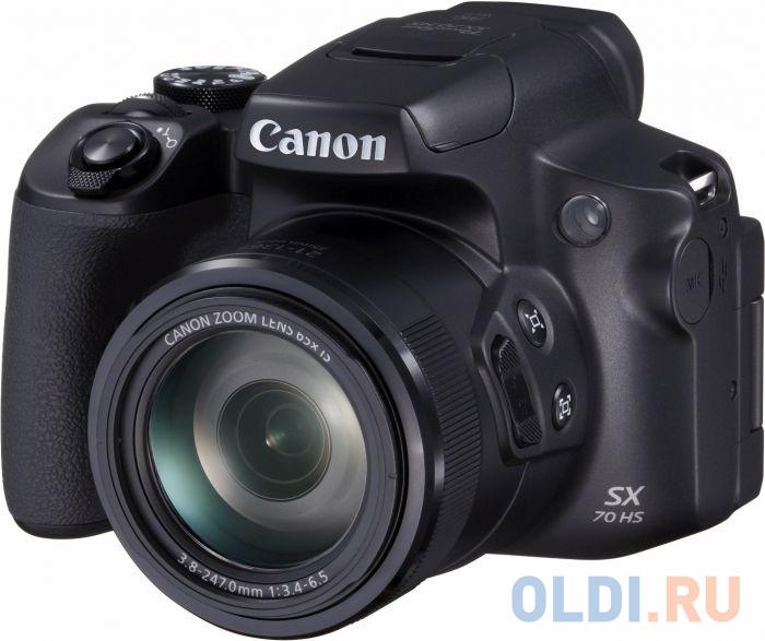 Фото - Фотоаппарат Canon PowerShot SX70 HS черный 20.3Mpix Zoom65x 3 4K SDXC CMOS 1x2.3 IS opt turLCD rotLCD VF 10fr/s RAW 29.97fr/s HDMI/WiFi/LP-E12 raw hem jeans