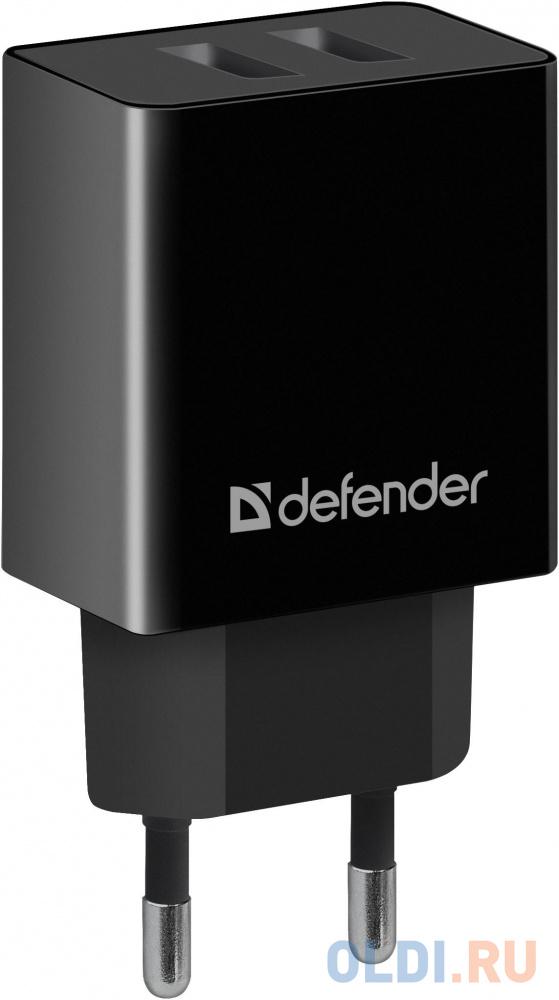 Фото - Сетевой адаптер Defender UPA-22 черный, 2xUSB, 2.1А зарядное устройство defender upa 22 2xusb black 83579