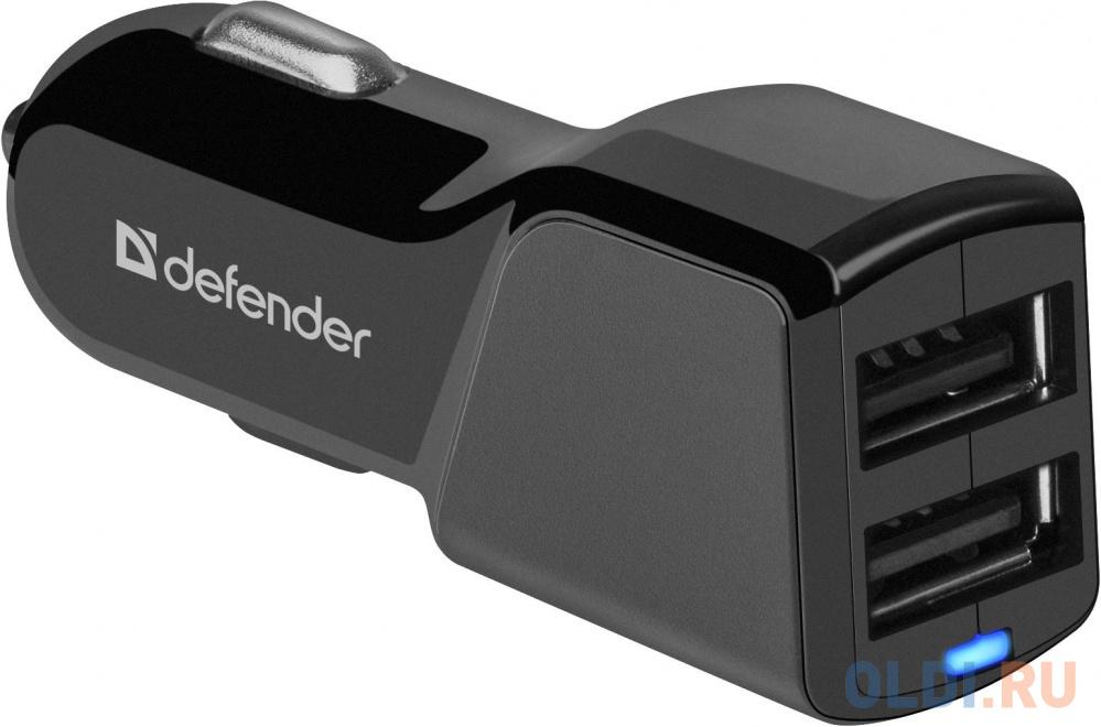 Автомобильный адаптер Defender UCA-34 2xUSB, 5V/3.4А