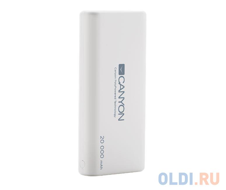 Внешний аккумулятор Canyon CNS-CPBP20W White