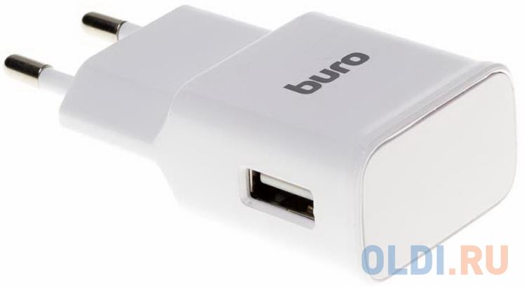 Сетевое зарядное устройство BURO TJ-248W USB 2.4А белый