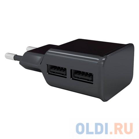 Сетевое зарядное устройство Red Line NT-2A 2.1A 2 х USB черный 453428 сетевая зарядка red line nt 2a черный