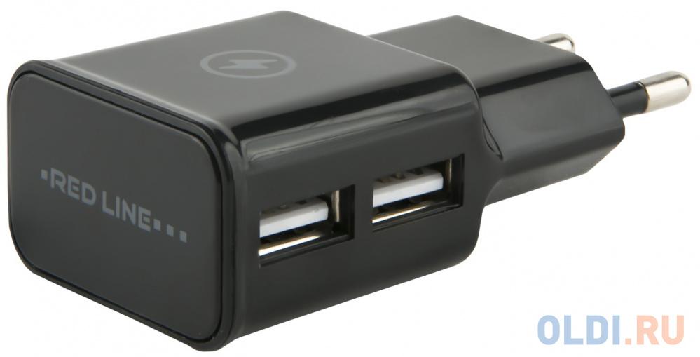 Сетевое зарядное устройство Red Line NT-2A 2.1A черный УТ000009404
