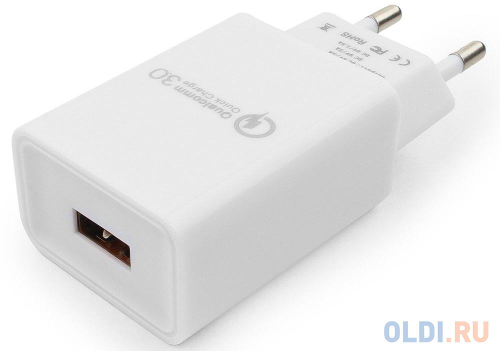зарядное устройство cablexpert mp3a pc 07 220v 5v usb 1 порт 1a белый Сетевое зарядное устройство Cablexpert MP3A-PC-16 3 А белый