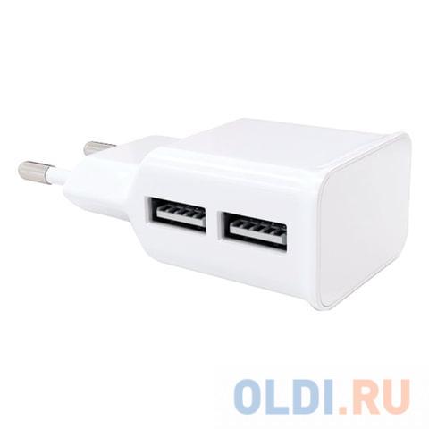 Сетевое зарядное устройство Red Line NT-2A 2.1A 2 х USB белый 453424