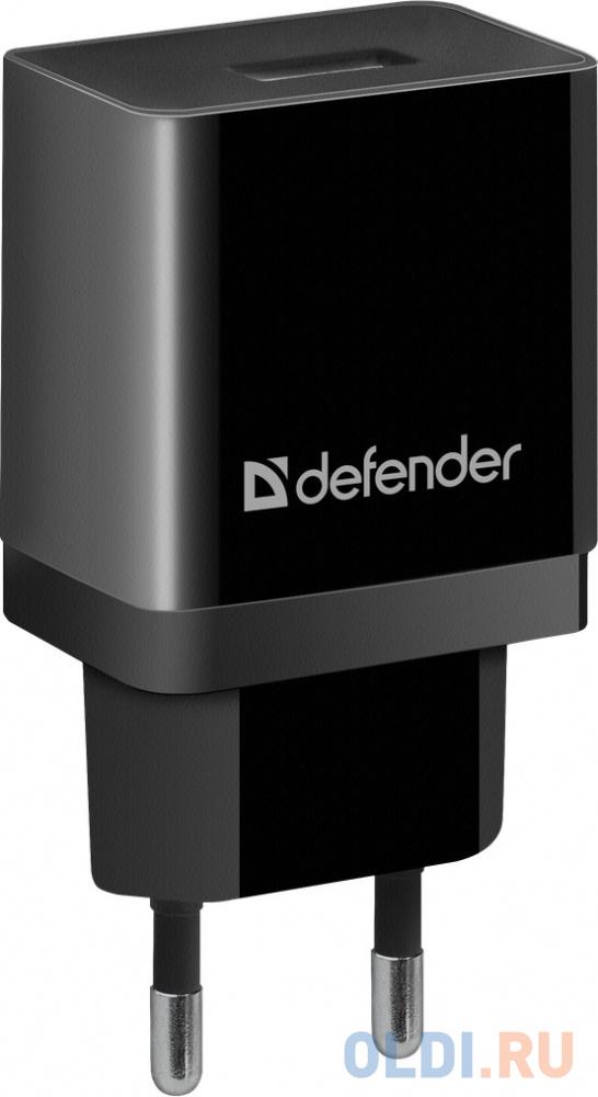 Сетевое зарядное устройство Defender UPC-13 2.1A USB черный 83559 зарядное