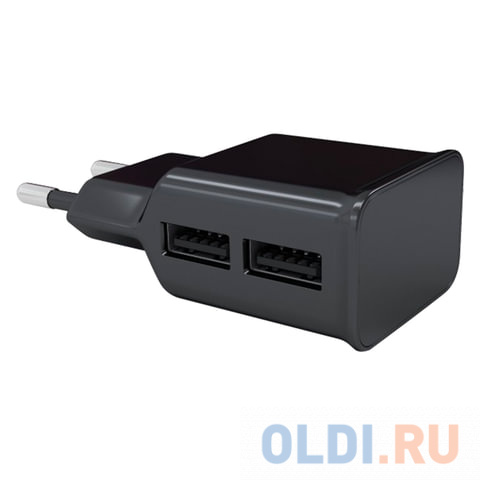 Сетевое зарядное устройство Red Line NT-2A 2.1A 2 х USB черный 453427 сетевая зарядка red line nt 2a черный