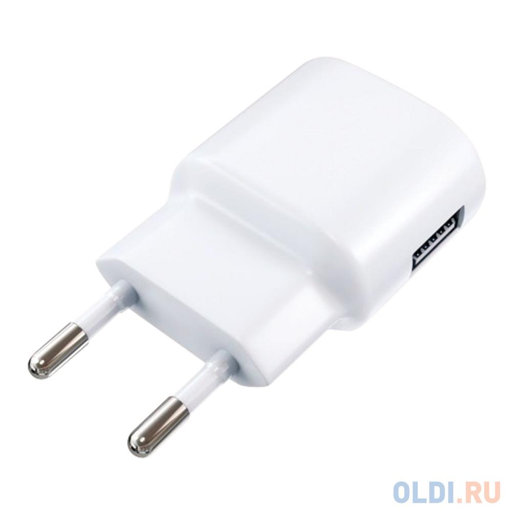 Сетевое зарядное устройство Red Line ТС-1A 1A USB белый 453432 сетевое зарядное устройство red line 2 usb и microusb модель nc 2 1ac 2 1a черный