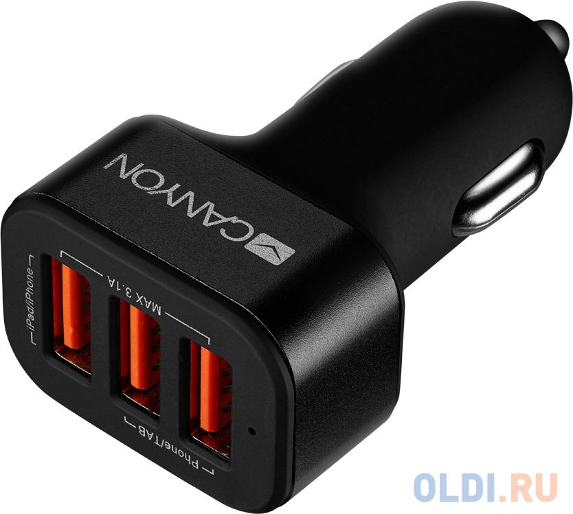 Автомобильное зарядное устройство Canyon CNE-CCA06B Black автомобильное зарядное устройство vipe vpcch34 black