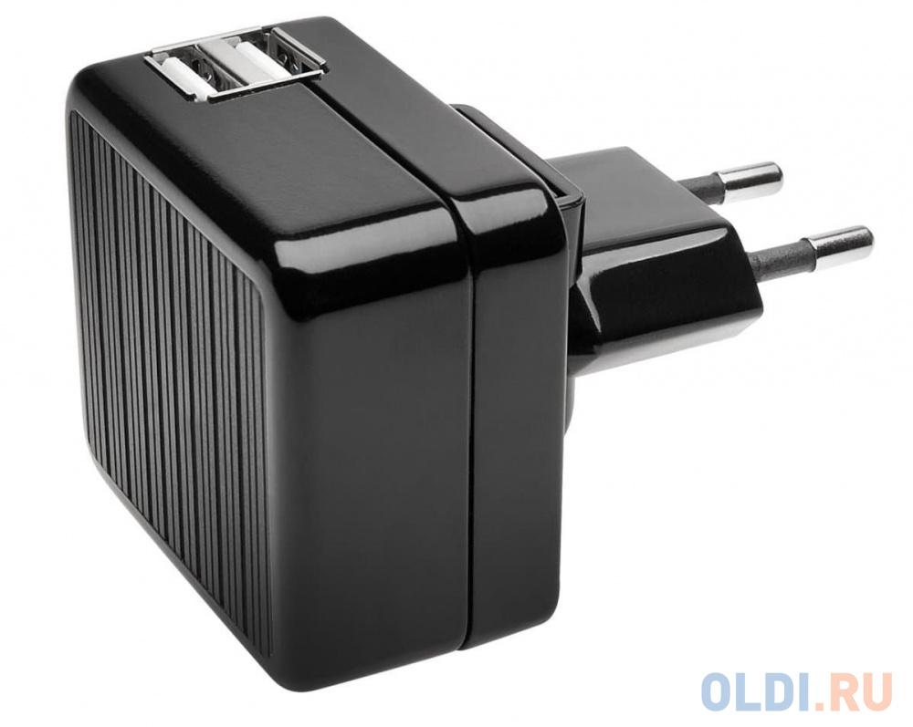 Сетевое зарядное устройство Kensington K39690EU 2.1A 2 х USB черный презентер kensington k33374eub черный