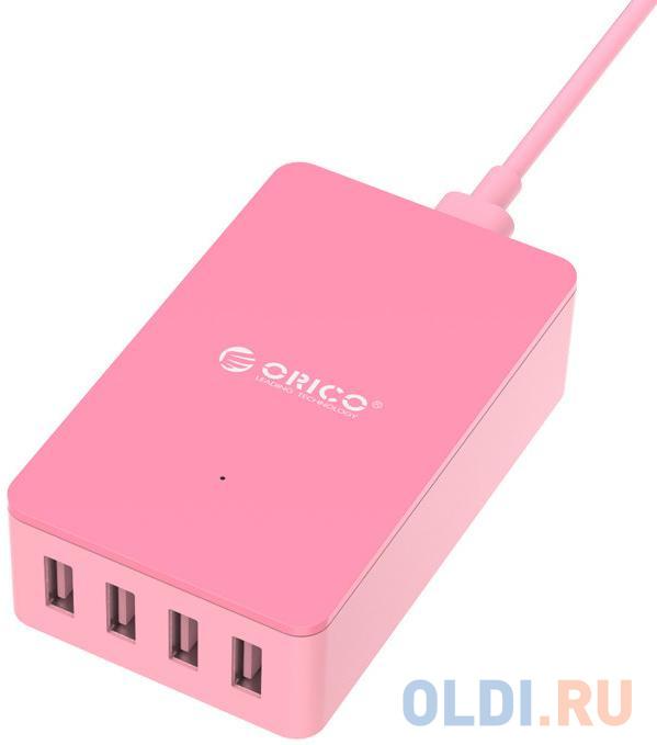 Сетевое зарядное устройство Orico CSE-4U-PK 6.8 А розовый