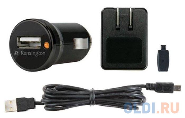 Автомобильное зарядное устройство Kensington K38057EU USB черный презентер kensington k33374eub черный