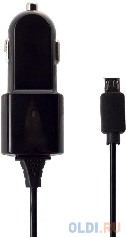 Автомобильное зарядное устройство Partner 1A microUSB черный ПР028251