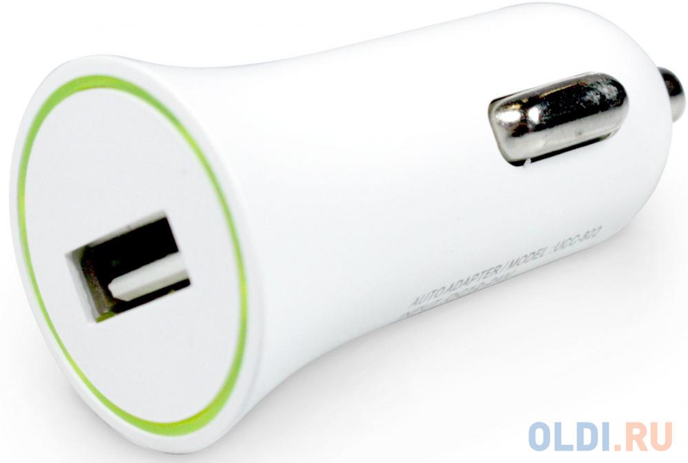 Автомобильное зарядное устройство Partner USB 8-pin Lightning 1A белый ПР033501 автомобильное зарядное устройство mango device black 2 1a с витым кабелем lightning длина 1 5 м