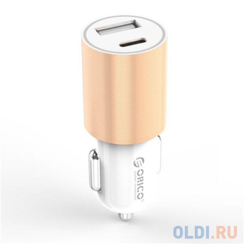 Автомобильное зарядное устройство Orico UCF-2U-GD 3.1А золотой наушники philips shb3075 black